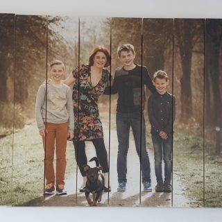 gezin - gescheiden - foto op hout - liefde - kinderen
